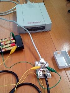 音響カプラ - 直流回路