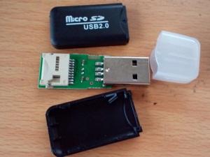 壊れたUSB microSDカードリータ